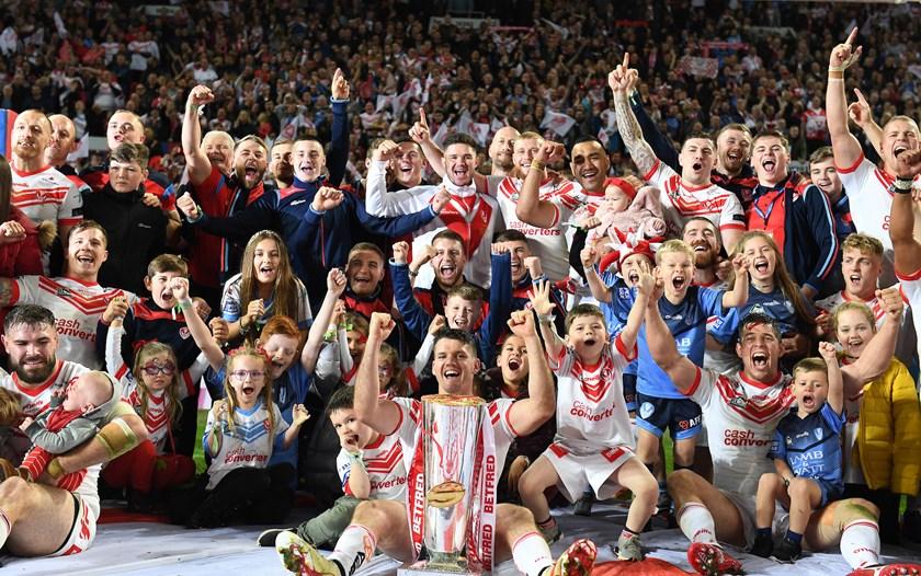 St Helens after winning the 2019 Super League grand final.