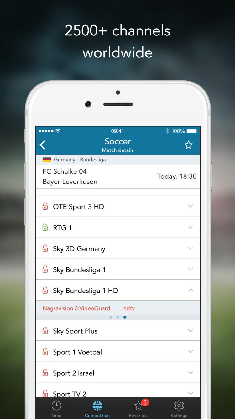 SportEventz - Live sport schedule on satellite TV app - SportEventz